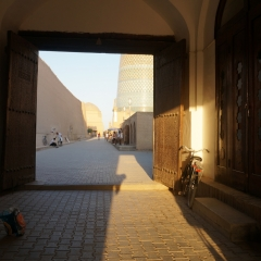 Khiva, Özbekistan, Asya, Motosiklet