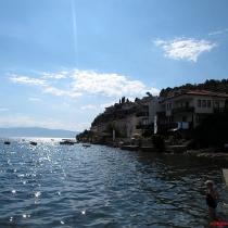Ohrid plajı ve göl sefası