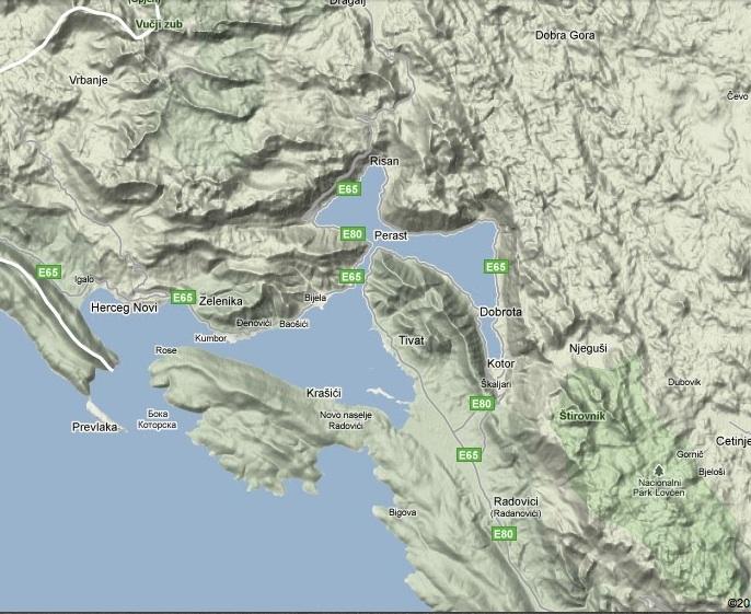 Kotor Fiyord Jeolojik Harita