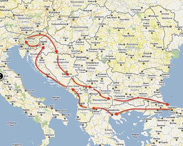 route-balkanlar