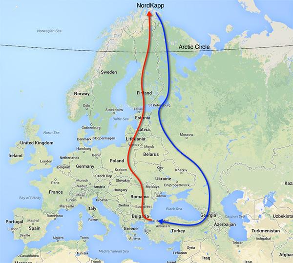 route-nordkapp